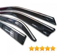 Дефлекторы окон (ветровики) для Kia Optima 2011-> С Хром Молдингом HIC