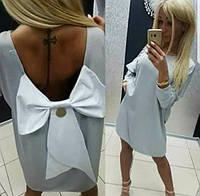 Платье Мини Котон Paparazzi С Бантом Глубокий вырез на спине