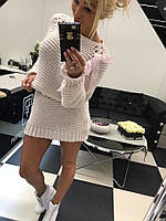 Вязаное женское Платье-Туника Paparazzi Длинный рукав