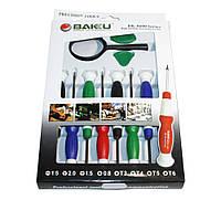 Набор инструментов BAKKU BK8600 (Отвёртки: T3, T4, T5, T6,  'мерс' 2.0, +1.5, -1.5, *1.5, 2 медиатора и лупа)