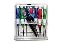 Набор инструментов Baku BK-625-E, 8 отверток, лопатка, скребок, ножницы