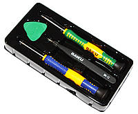Набор инструментов Baku BK-7290, 2 отвертки, медиатор, кривой пинцет