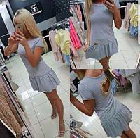 Платье Летнее С Вырезом на спине Короткое Италия