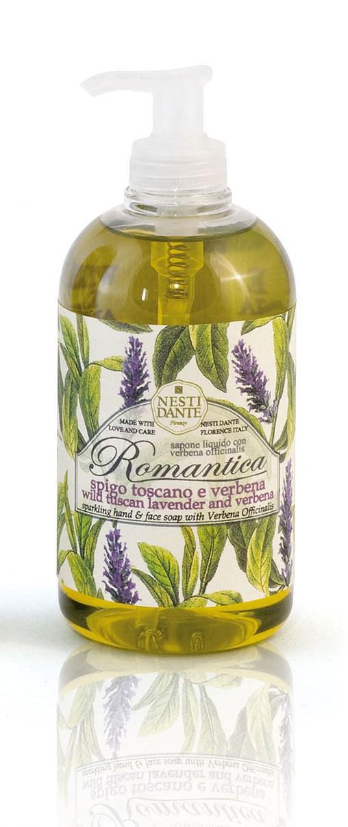 Жидкое мыло Nesti Dante Tuscan Wisteria & Lilac Romantica Тосканская лаванда и вербена 500мл