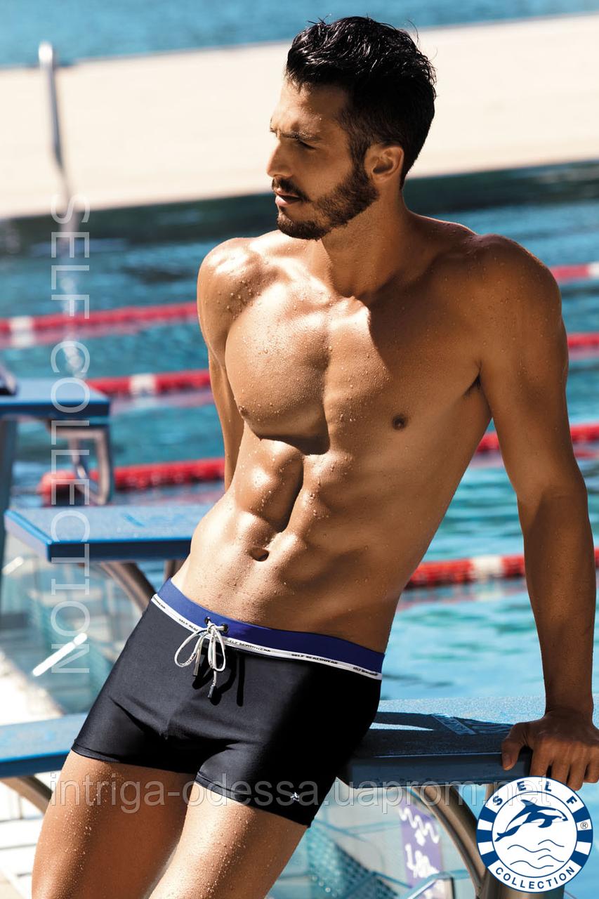 Плавательные шорты с контрастным пояском из новой коллекции Self