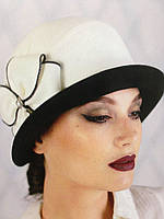 Шляпа из кашемира двухцветная с полями