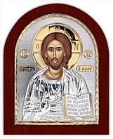 """Икона серебряная """"Спаситель"""" 200х250мм ( Греция )"""