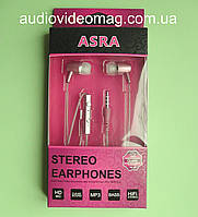 Гарнитура ASRA 3.5мм (4pin), цвет - розовый перламутр, для всех телефонов