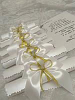 Дизайнерские свадебные пригласительные Свиток