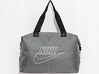 Сумка спорт Nike цвет серый