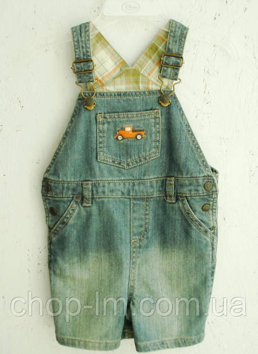"""Короткий джинсовый комбинезон для мальчика """"Машинка"""" Crazy8 (детский комбез)"""