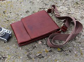 Сумка мужская на ремне - коричневая (283007), фото 2