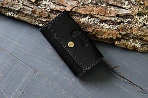 Ключница из натуральной кожи (282001) - черная, фото 2