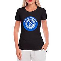 Женская футболка - Клуб Schalke, отличный подарок купить со скидкой, недорого