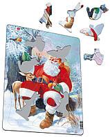 Пазл-вкладыш Дед Мороз в лесу, серия МАКСИ, Larsen
