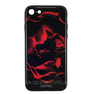 Чехол наклака для iPhone 7/8 White Knight Pictures Glass красная роза