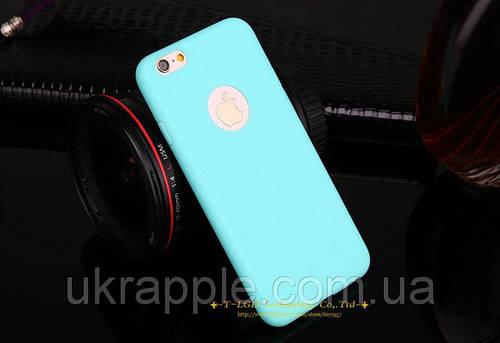 ЧехолнакладканаiPhone6 plus/6splusсиликон,мятный