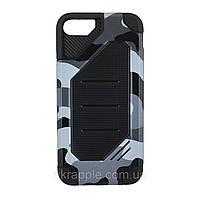 Чехол накладка  для iPhone 7/8 Motomo (Military)  серый / Камуфляж