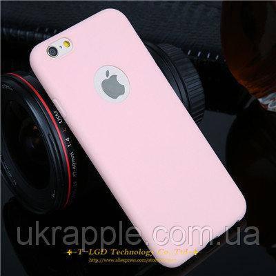 ЧехолнакладканаiPhone6 plus/6splusсиликон,ярко-розовый