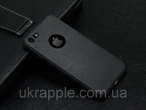 ЧехолнакладканаiPhone7 Plus/8Plusподкожуизплотногосиликона,черный