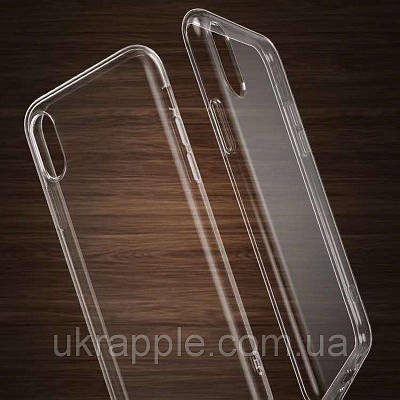 Чехол накладка на iPhone X прозрачный силикон