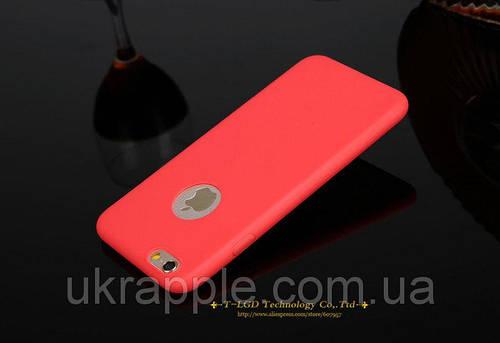 ЧехолнакладканаiPhone6 plus/6splusсиликон,красный