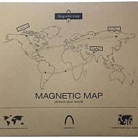 Магнитная карта мира на холодильник Mapnetic