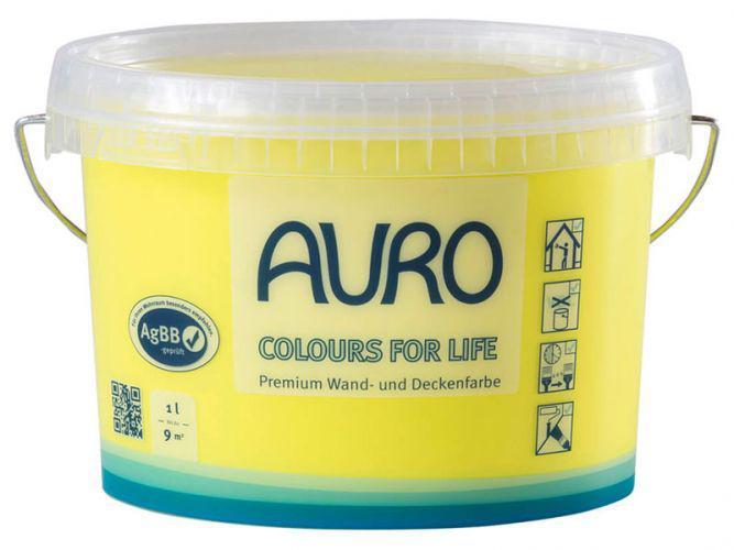 Цвета для жизни - натуральная премиум краска для стен и потолков AURO No. 555  1 л Цветовая группа 1