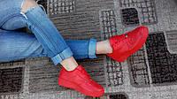 Красные женские кроссовки.хит продаж! №1239