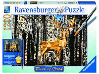 Пазл Золотая Олень в березовом лесу, 1200 элементов, Ravensburger