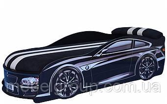Кровать машина БМВ черная, фото 3