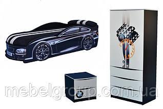Кровать машина БМВ черная, фото 2