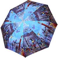 Женский полуавтоматический зонт с ярким оригинальным рисунком ZEST Z246655-77 Антиветер!