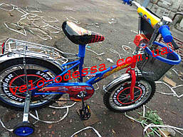 Детский двухколесный велосипед 16 тачки  дюймов с корзинкой