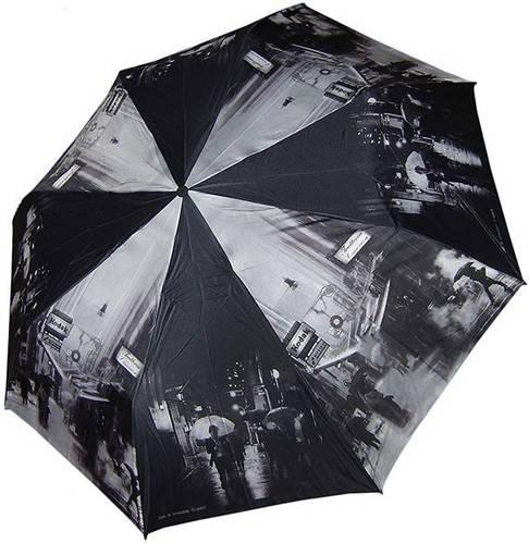 Ярким с оригинальным рисунком женский зонт, полуавтомат ZEST Z246655-54 Антиветер!