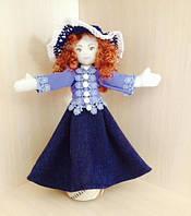Текстильная кукла для интерьера, авторская, ручной работы. Необычный подарок на 8 Марта женщине