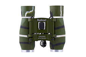 Компактный бинокль 12 крат BUSHNELL (зеленый)