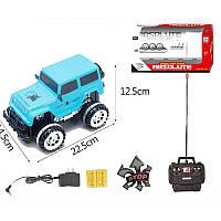 Джип голубой на радиоуправлении с аккумулятором, 383-55