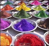 Сухие красители из Индии.