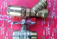 Кран шаровый,обратный клапан и фильтр для счетчика