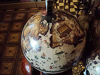 Глобус бар с деревянным основанием (38х33х48 см)