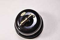 Выключатель 1-клавишный проходной  черный, фурнитура дерево, бронза