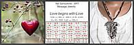 """Колье с секретным сообщением  """"Love begins"""". Jewelry Message"""