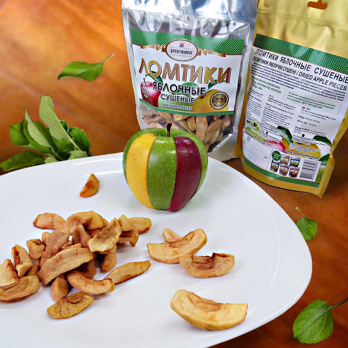 Жевательные конфеты «Ломтики яблочные сушеные», 100 г, фото 1