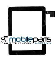 """Оригинальный Сенсор (Тачскрин) для планшета 8"""" Modecom FreeTab 8001 3G (199*154мм, 50 pin)(Черный-Самоклейка)"""