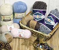 Старт теплой и уютной акции на шерстяную, полушерстяную, мохеровую и декоративную пряжу!