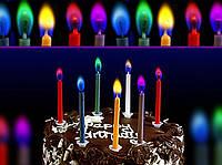 Праздничные свечи для торта с цветным пламенем