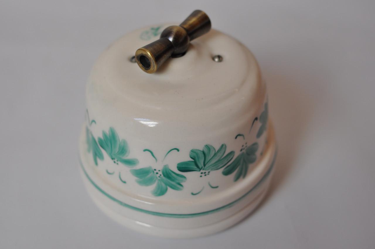 Выключатель поворотного типа одно/двухклавишный проходной
