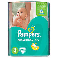 Подгузники Pampers Active Baby 3 90 штук