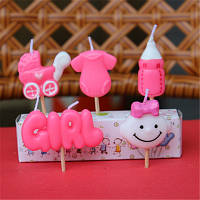 Набор праздничных свечей girl